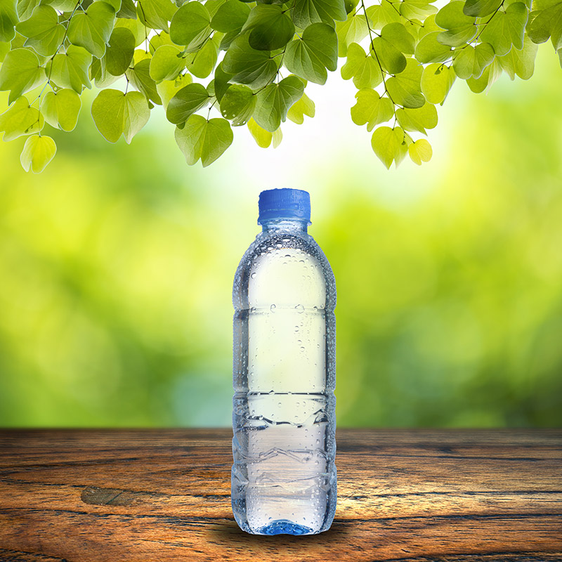 Bottled water outside