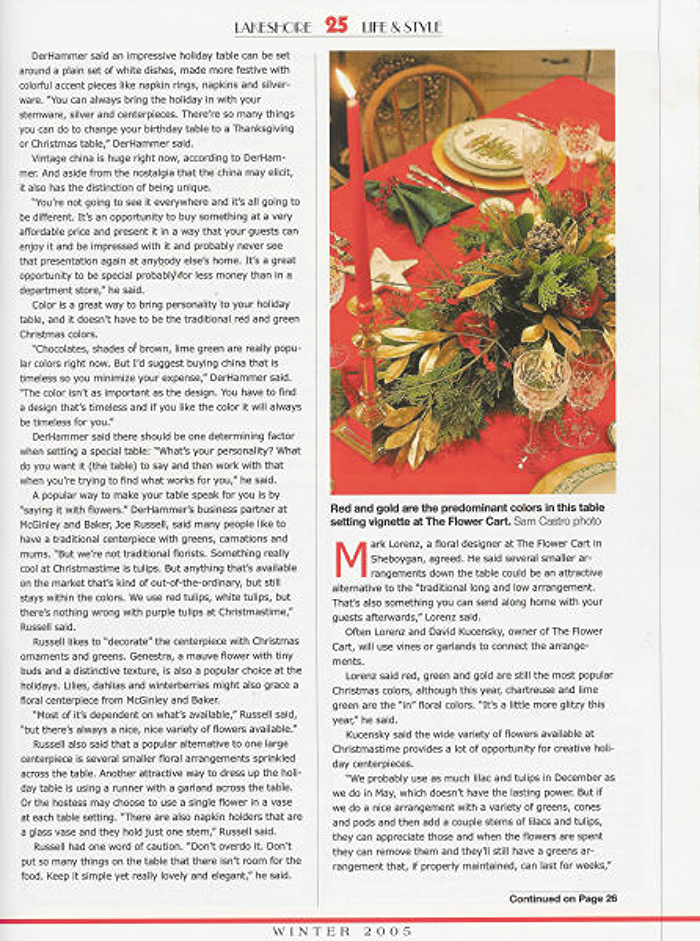 Lakeshore Life & Style Magazine, Winter 2005, Page 25