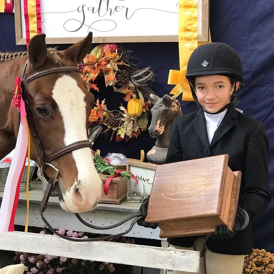 Pre-Beginner Equitation  Reserve Champion Marley McGlaughlin & Get Your Island On