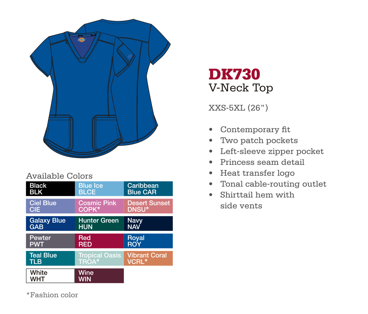 Cuello en V. DK730.