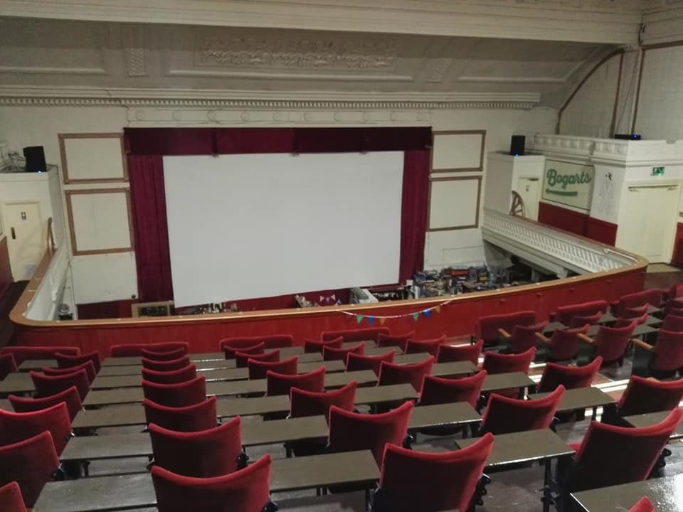 View of screen at The Regent Cinema, Blackpool