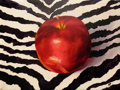 """Wild Apple - 6""""x8"""" Oil on Gallery Wrapped Canvas  SOLD"""