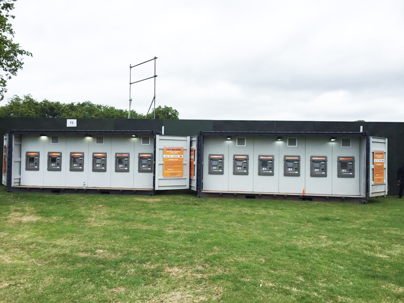 cash machine containers