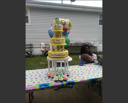 Triple Decker Birthday Cake