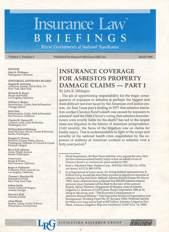 Insurance Law Briefings||||