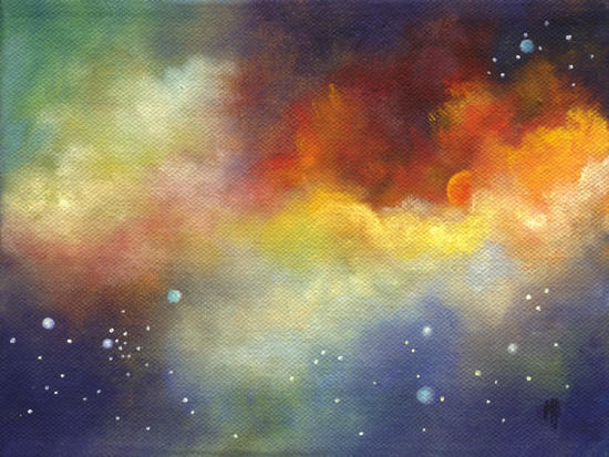 """Solar Fire 6""""x8"""" Oil on Canvas SOLD"""