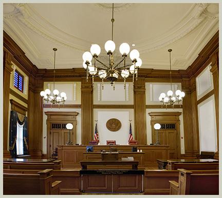 Inside court room||||