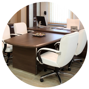 Clean Office Chair & Table