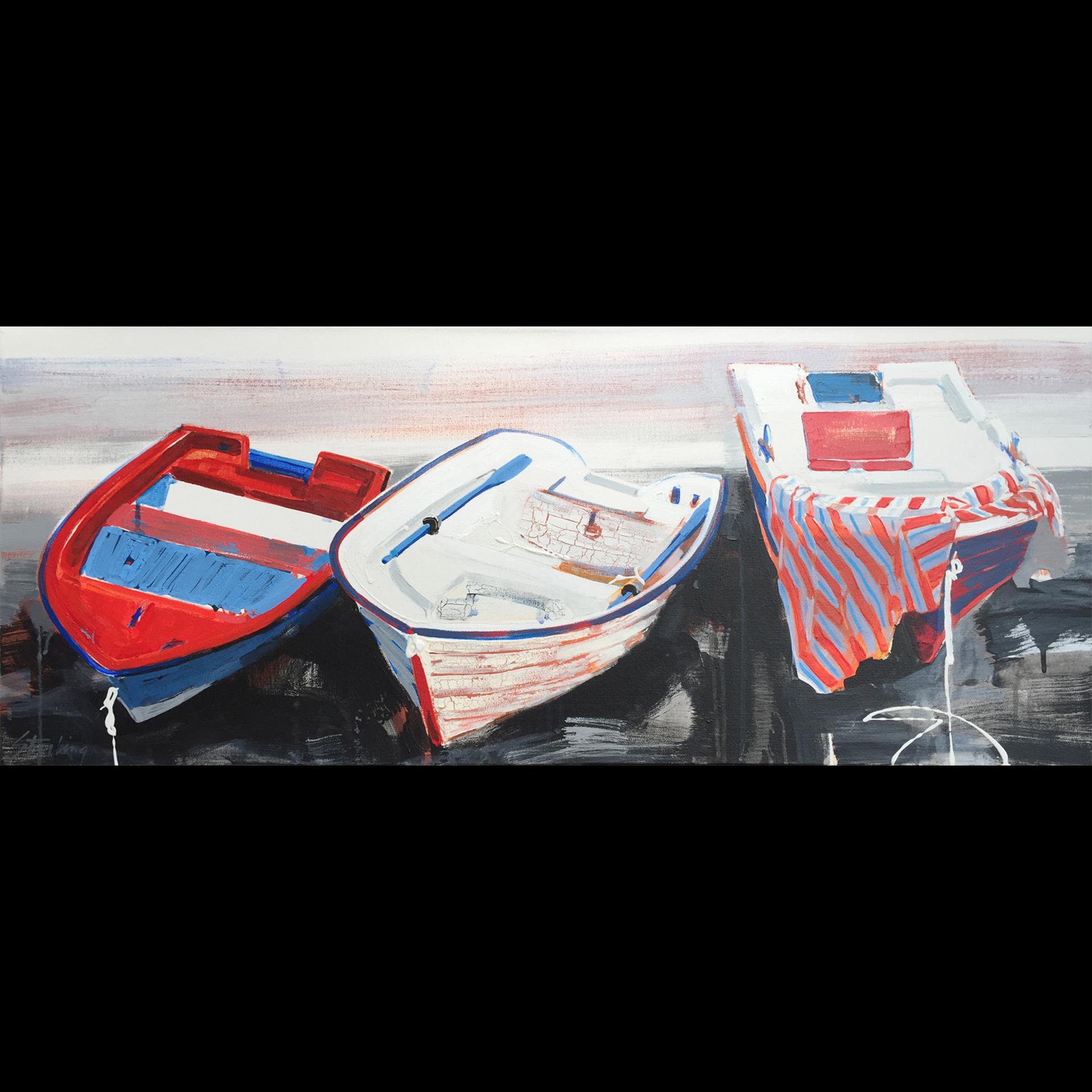 Riposo mixed media on canvas 16x40