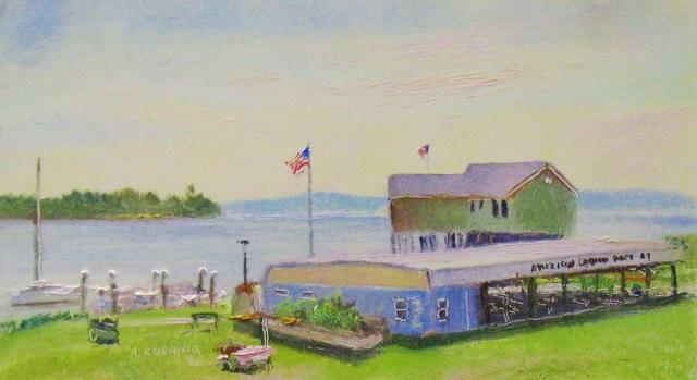 4. Havre de  Grace, American Legion Post #47, 4x7 oil on panel