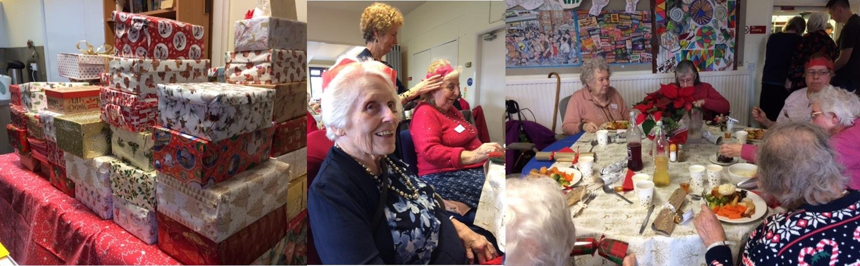 Farnham residents enjoying a Christmas lunch at the Gostrey center