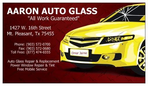 AARON AUTO     GLASS & TINT