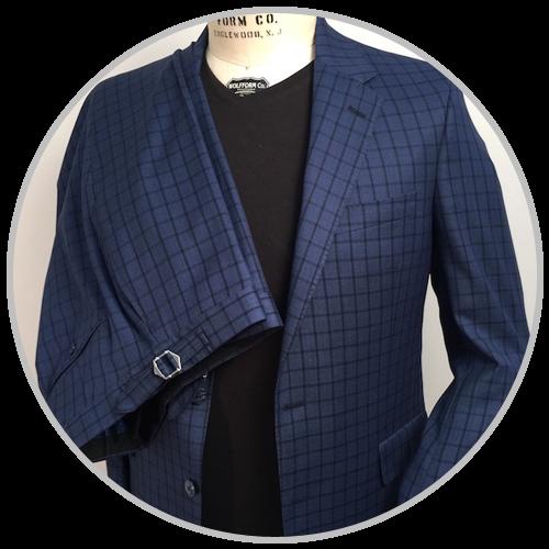 Blue Squared Suit