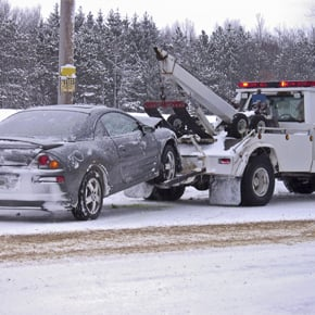 Gray Car Towing