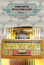 """Where Have All the Pop Stars Gone? Volume 3"" book cover, showing artists' names and song titles on a vintage Seeburg jukebox"