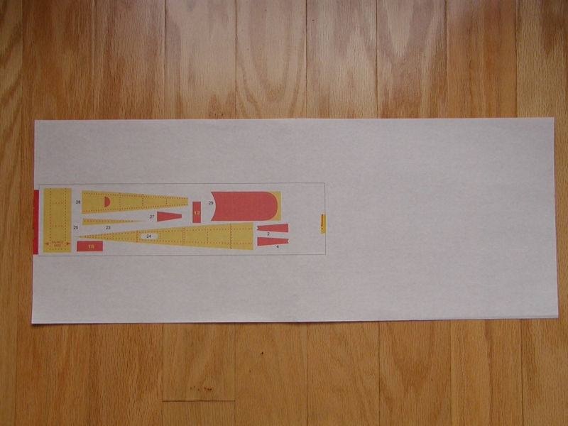 To make alignment of the balsa easy, and to make sure the printer can handle narrow balsa sheets, create a backing sheet. Print a sample graphic on the backing sheet to serve as an alignment guide before actually printing on balsa.