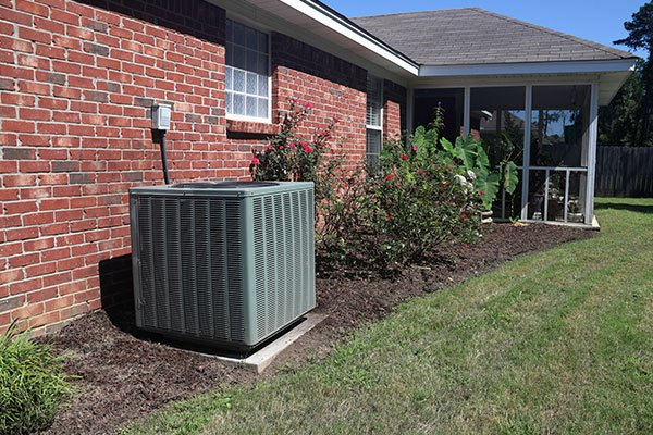 Air Conditioner System Next to Home
