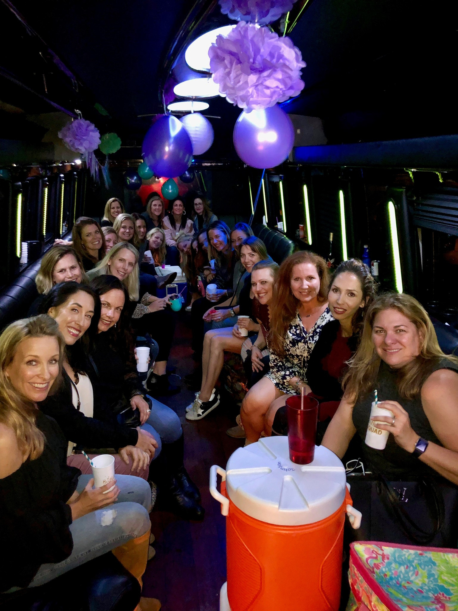 Limousine Bus Birthday Party