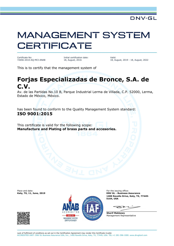 ISO 9001-2015 ANAB