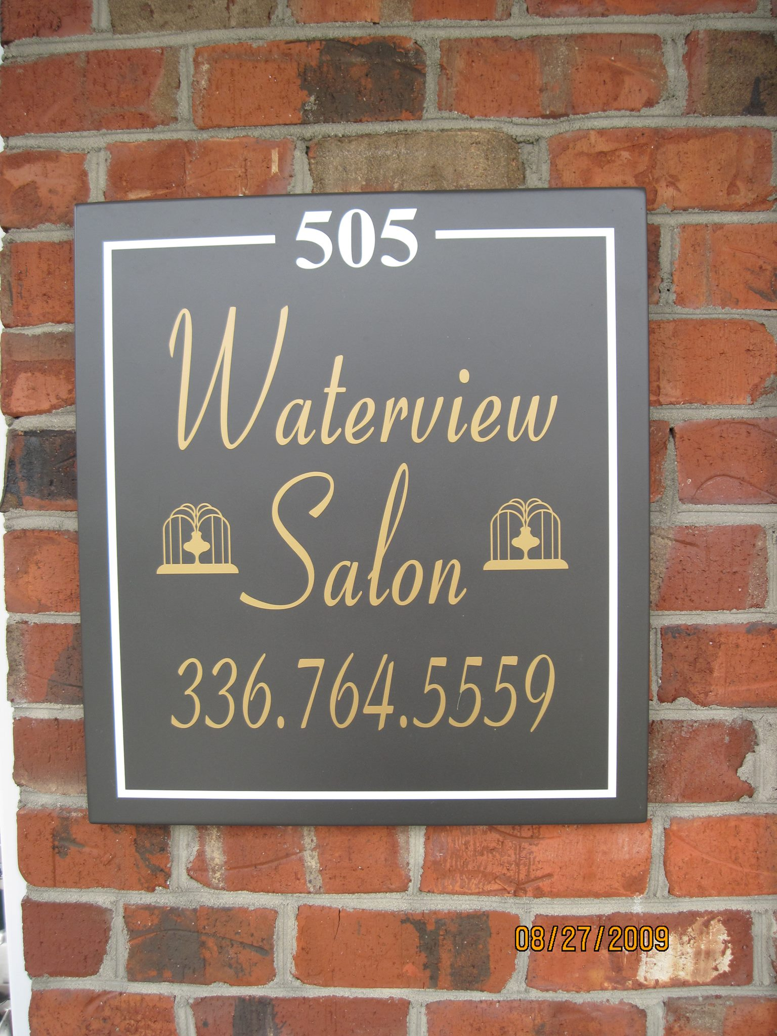 Waterview Salon Sign