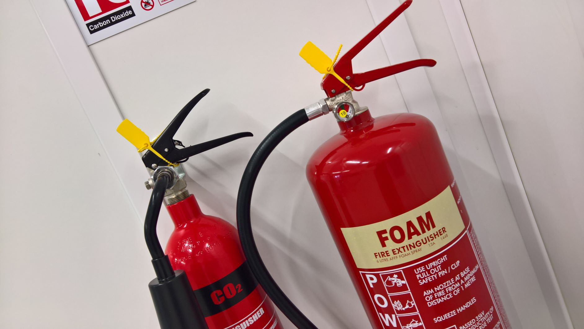 Co2 and Foam Fire Extinguishers