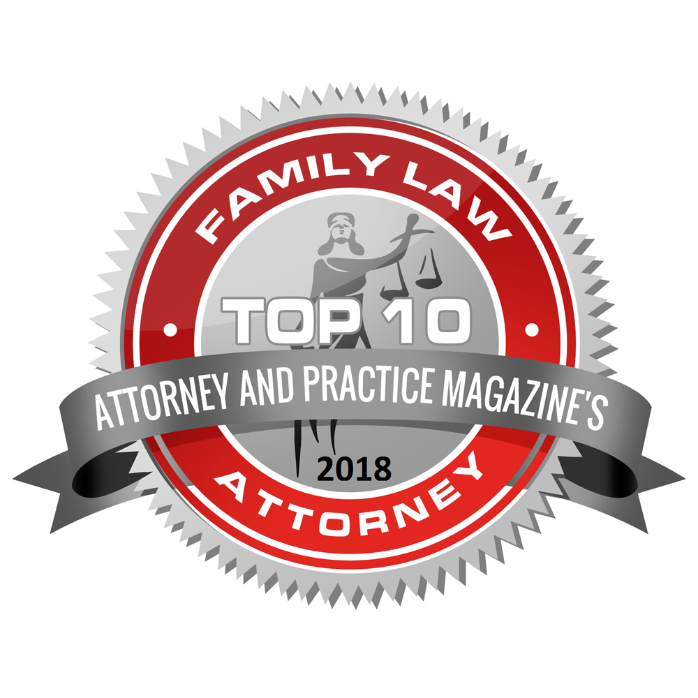 2018 Attorney and Practice Magazine Top 10 Badge
