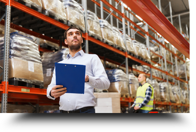 Man With Clipboard At Warehouse