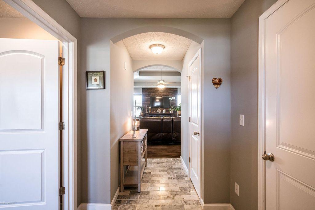 Foyer Flooring Remodel With Marble Floor Tile
