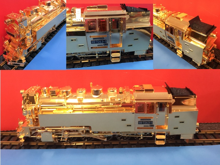 GOLD PLATED. LGB/ASTER #20811 HSB STEAM LOCOMOTIVE                           $15,000.00