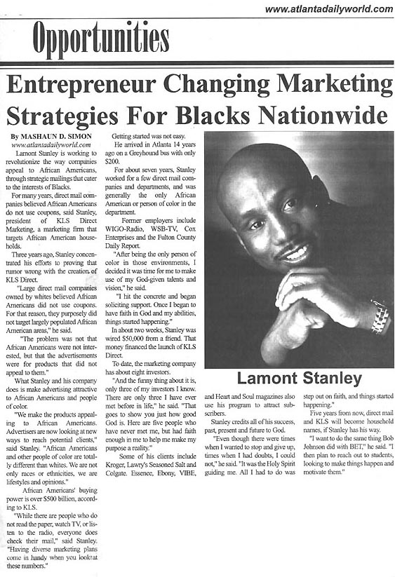 Article About Lamont Stanley 1