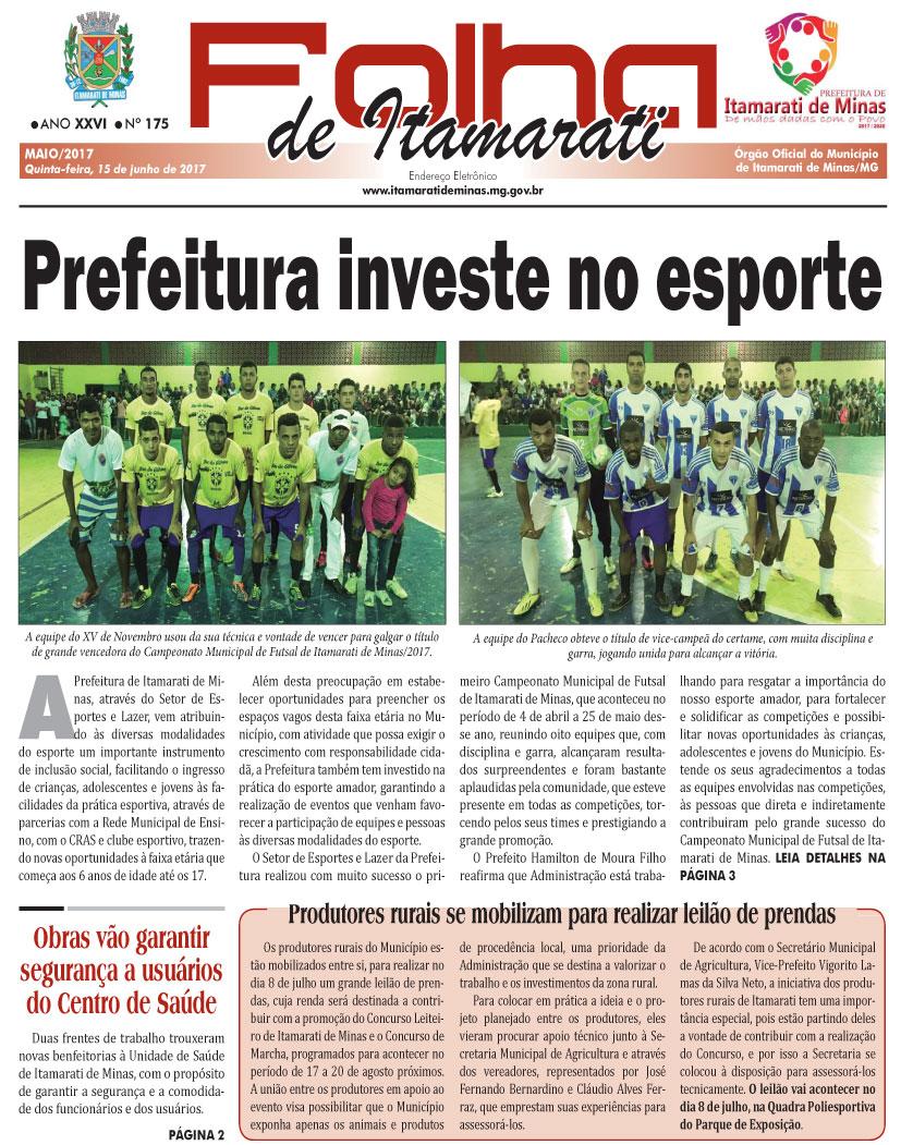 JORNAL DA PREFEITURA DE ITAMARATI DE MINAS MAIO DE 2017