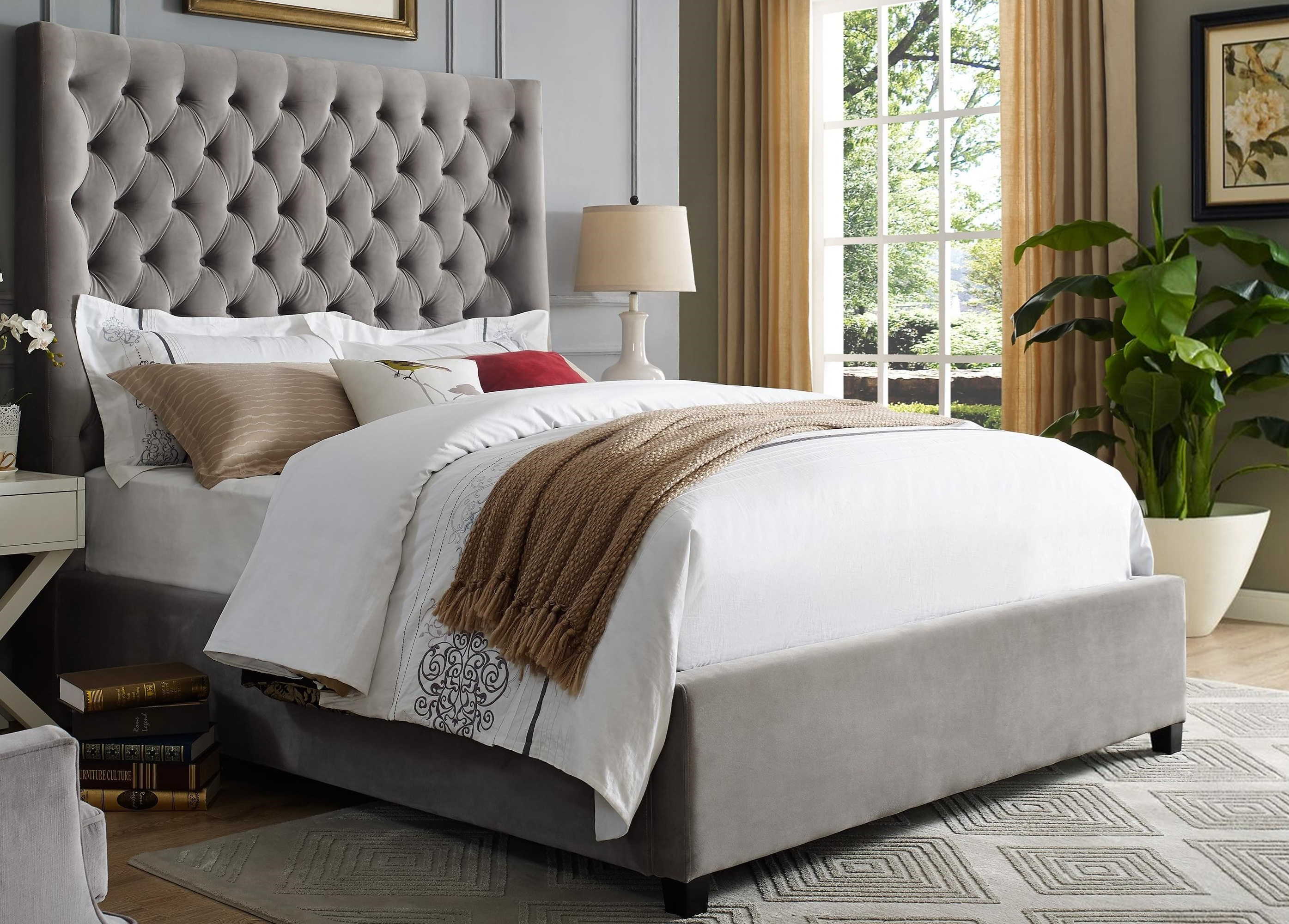 5113GY-K-Q Aster Bed Grey