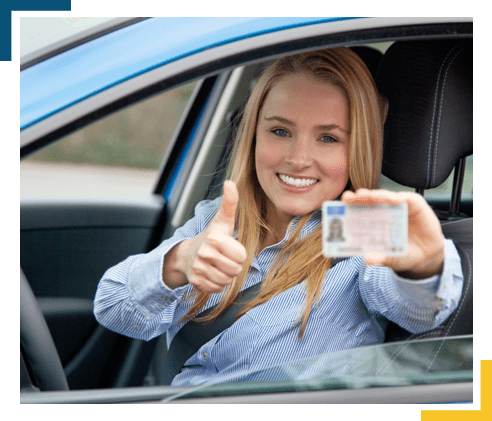 New Driver Displaying Driving Licence