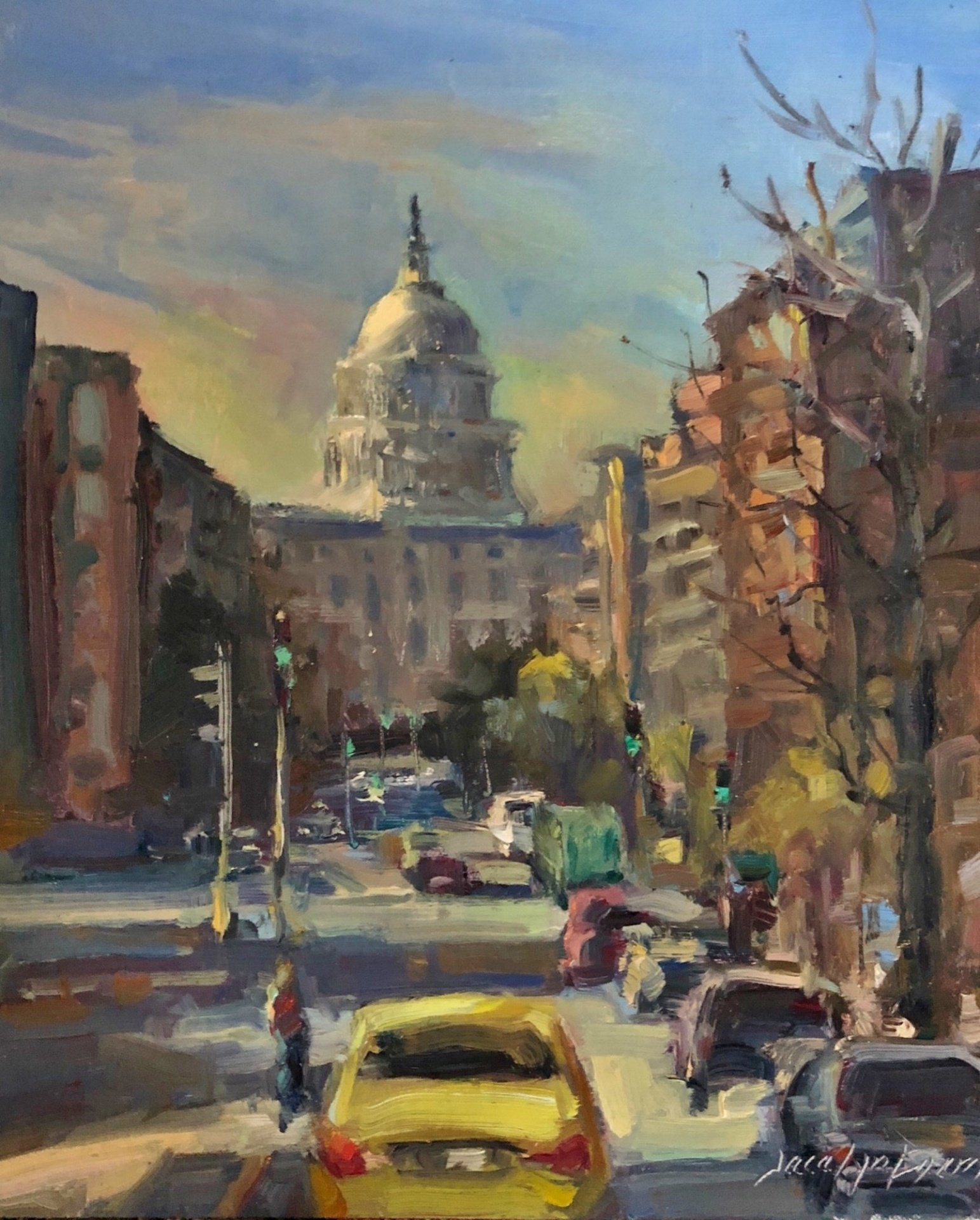 "Jacalyn Beam, Capitol, 10"" x 12"" Oil"