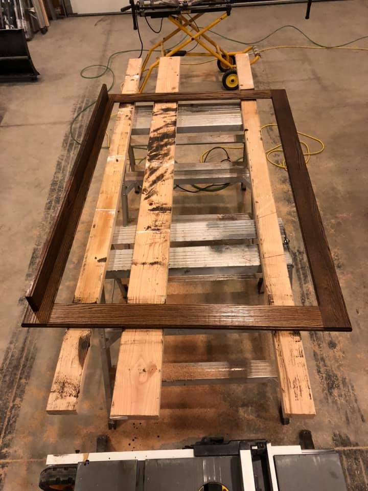 Custom Mirror Frame Stained