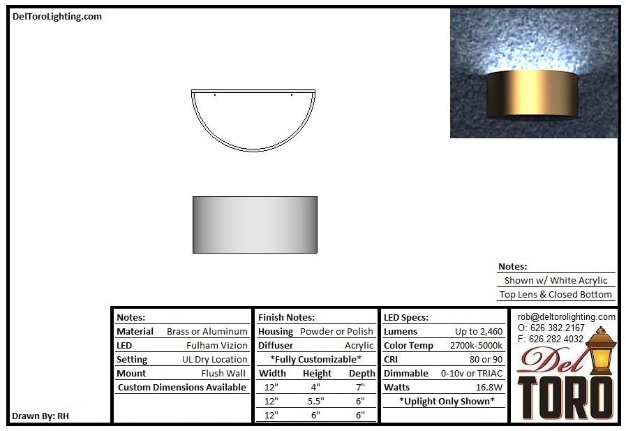 001W-Half Cylinder Metal Sconce