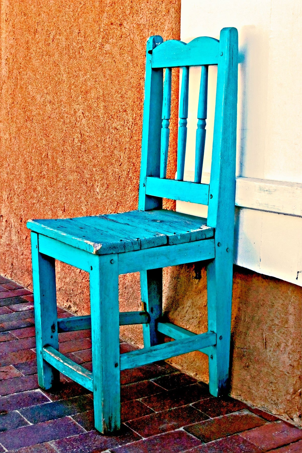 "THE CHAIR - I walked right past this chair on the sidewalk in this little western town. Fortunately for me, my wife said ""Why  don't  you take  a picture of that chair?"". I love my wife!"