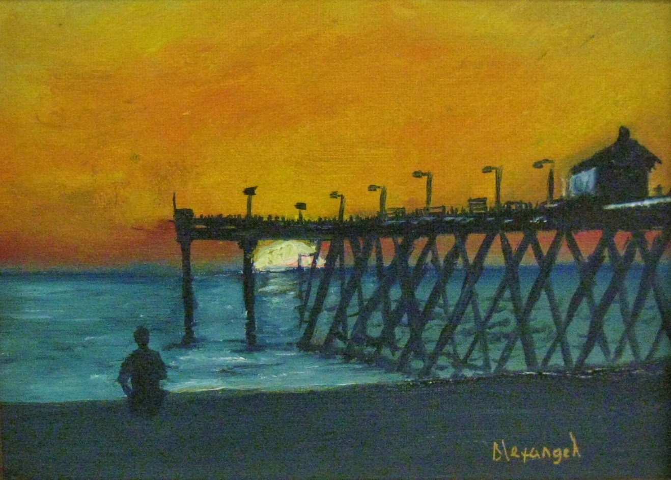 "Alexangel Estevez, St. Petersburg Sunset, 6"" x 8"" Oil"