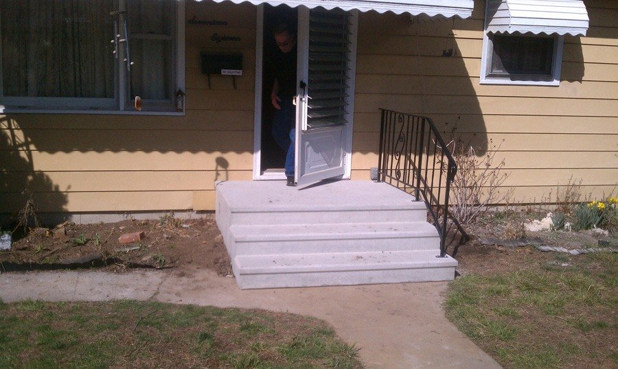 Installed Concrete Steps