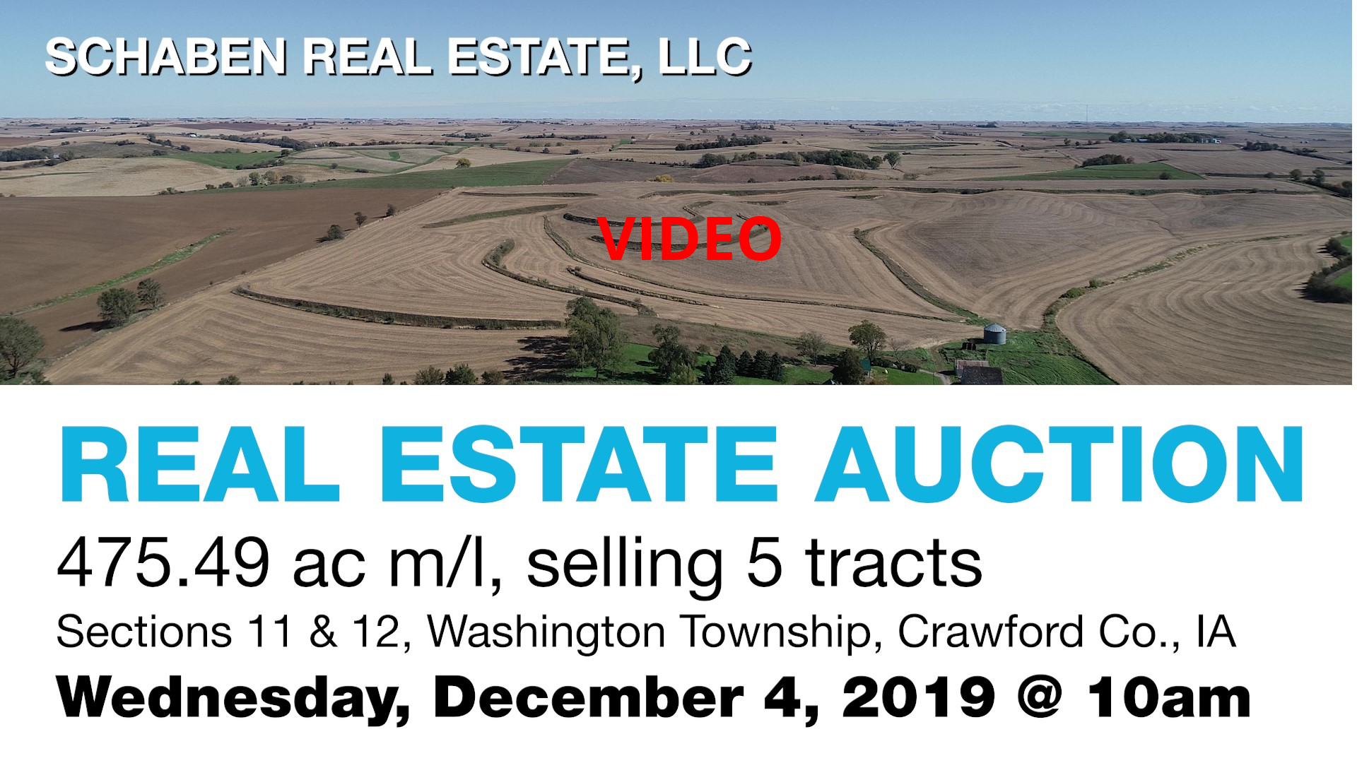 Click here for a video of the Von Tersch Trust Land to be auctioned on Wed, December 4th, 2019