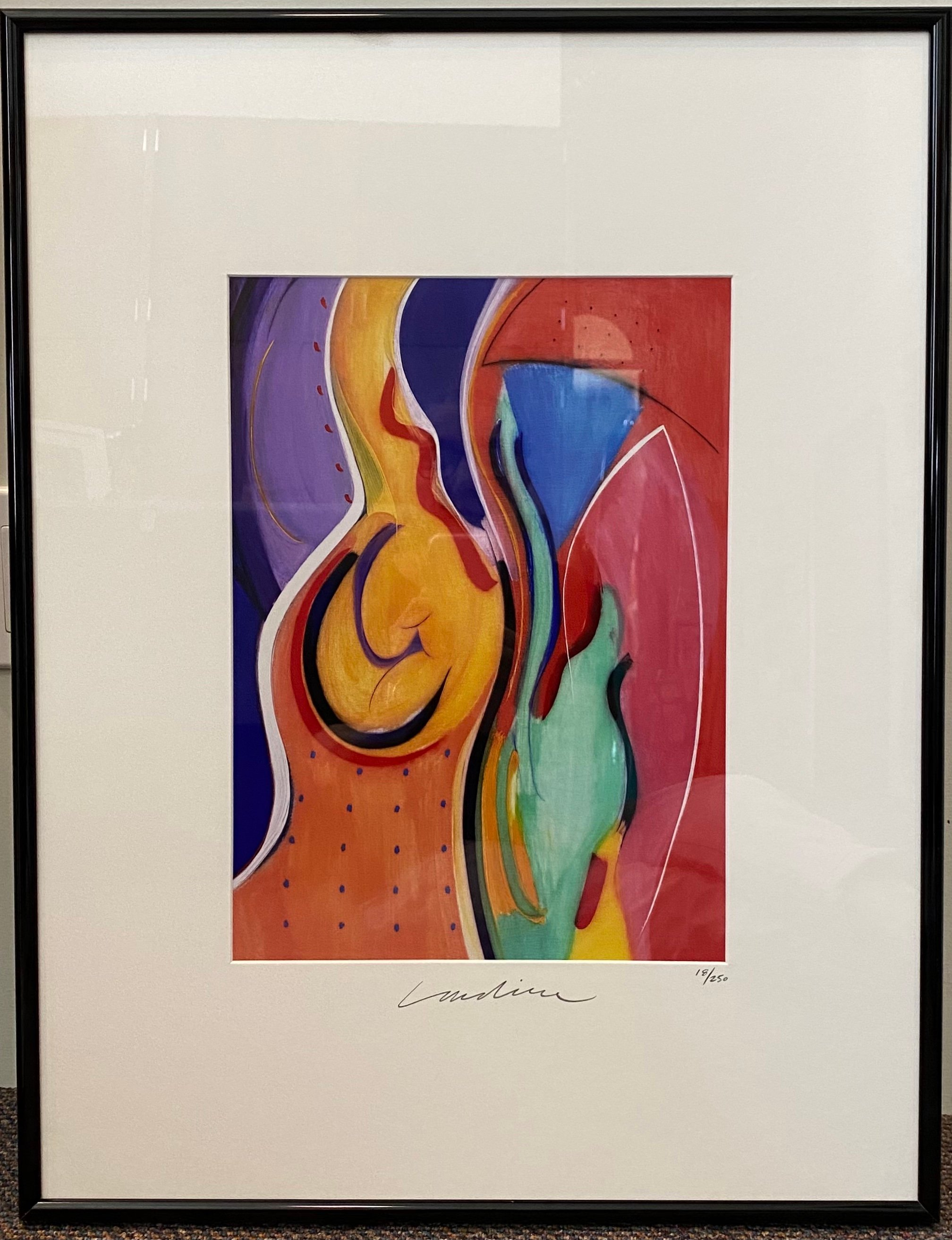 "Geoffrey Lardiere New Awakening Lithograph 11"" X 15"" $365."