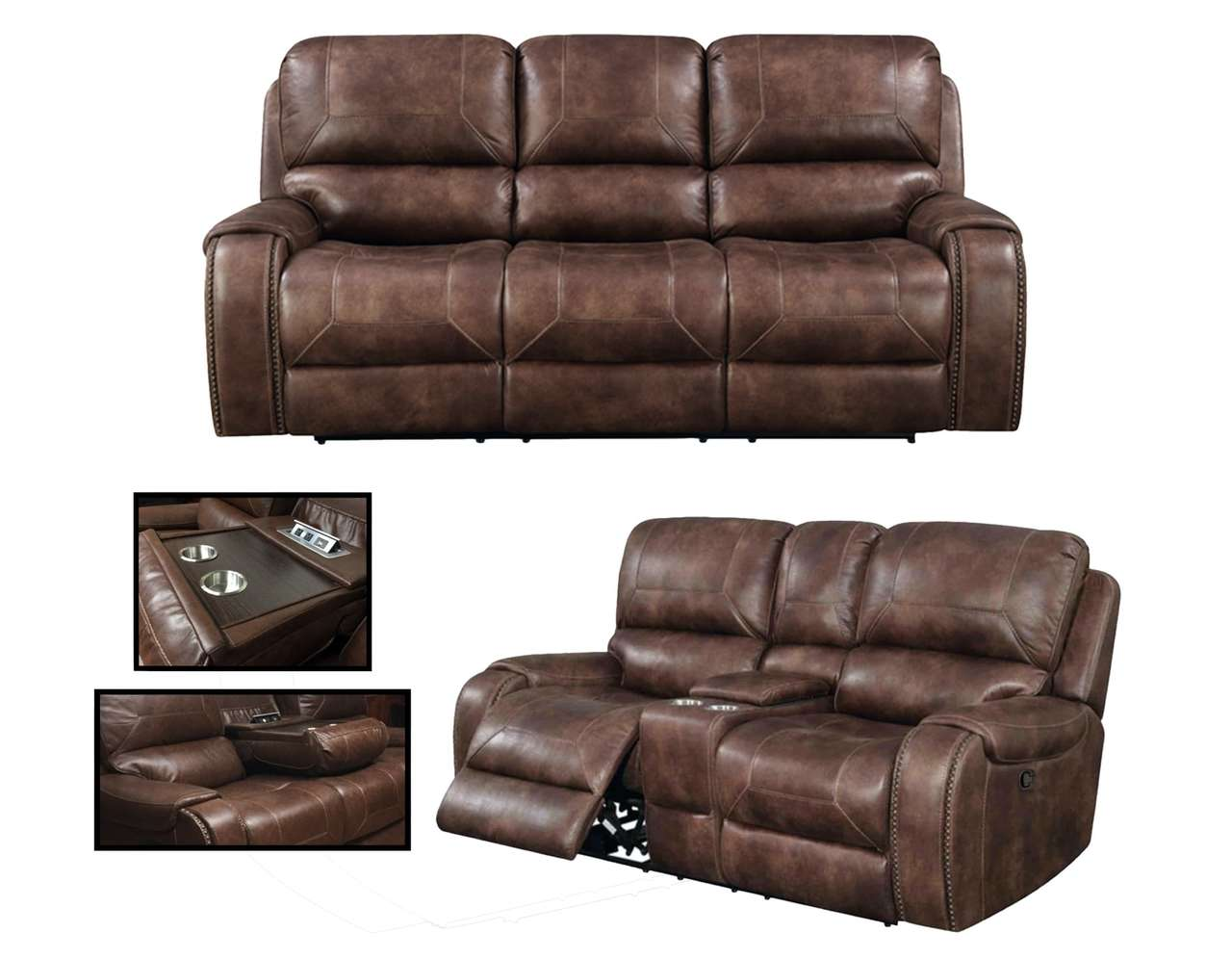69506 Avalanche Reclining Sofa and Loveseat