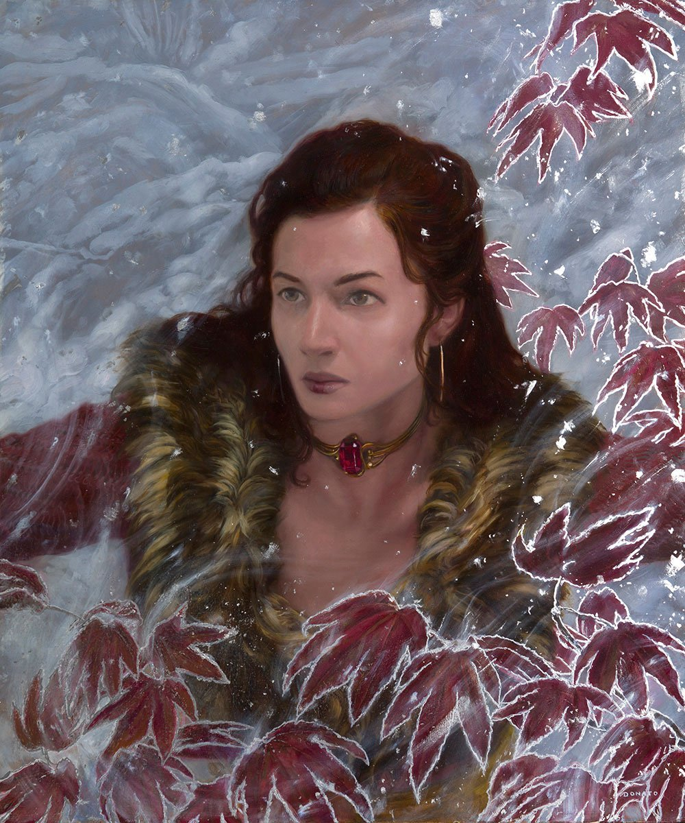 "Melisandre 24"" x 20""  oil on Panel  2015 Collection of the artist"