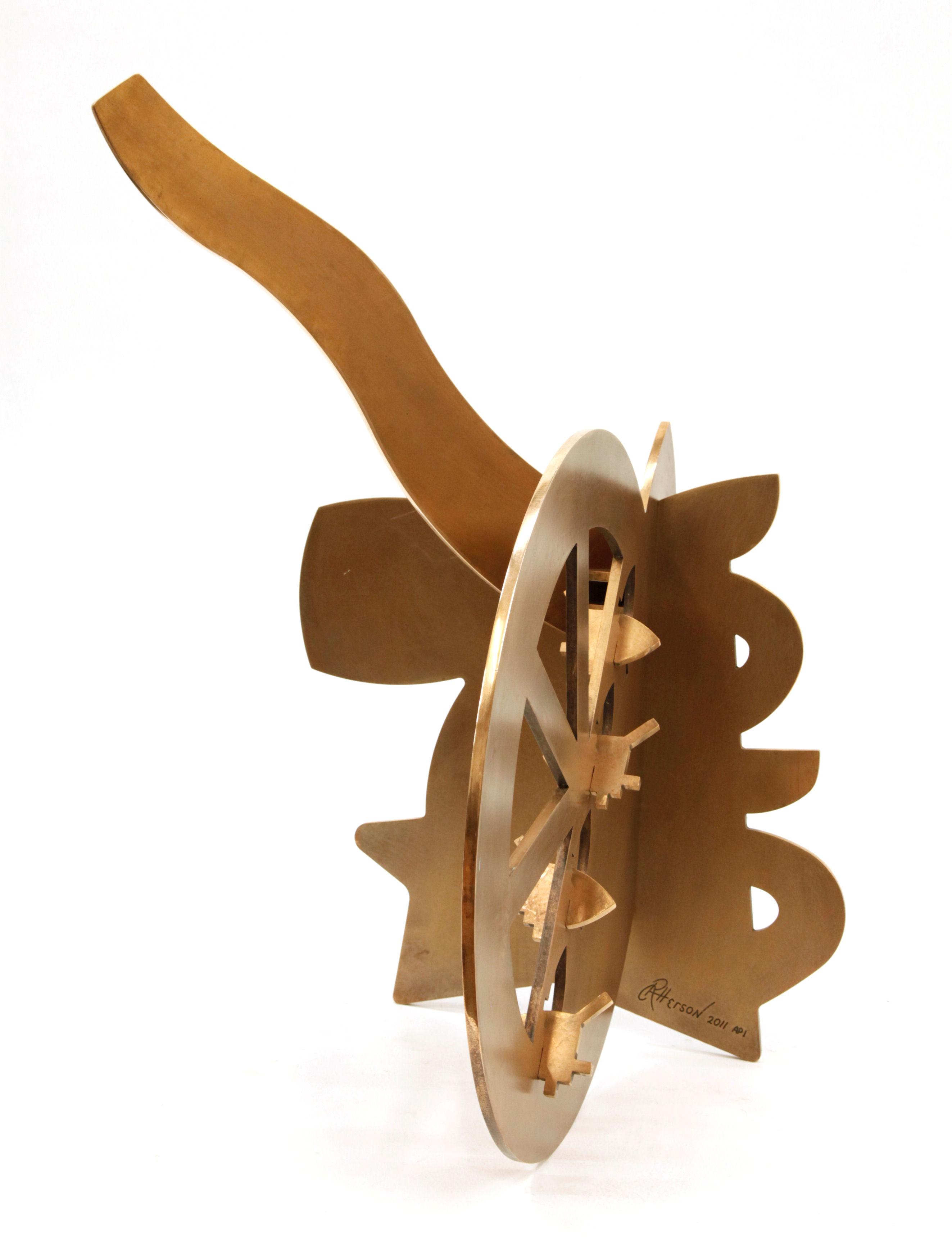 "Shungo Rising - 2011, Fabricated Bronze with Patina, 20"" x 34"" x 38"""