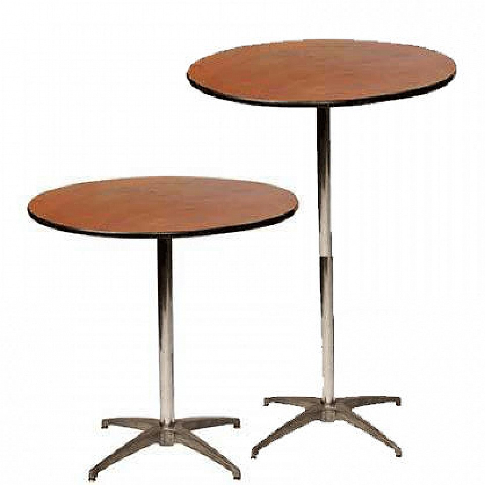 """36"""" Round Table (1 available) $6/day or weekend 30"""" or 42"""" Tall"""