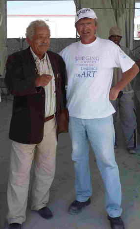 With Mr. Adam, famous Egypt sculptor
