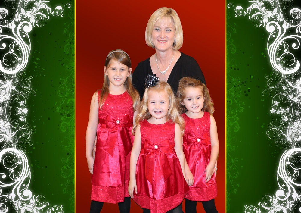 Christmas Cheer This lovely Grandmother and her beautiful three grand-daughter.
