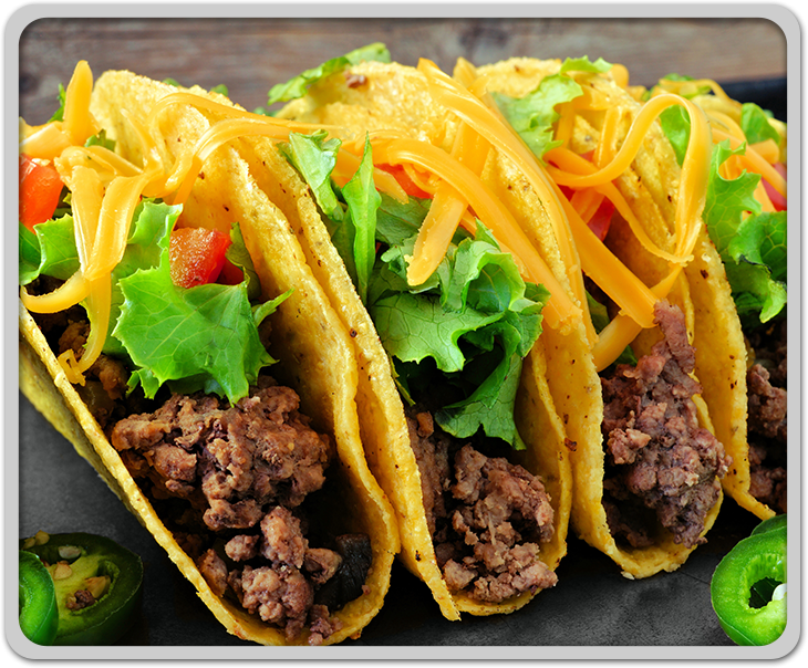 Tacos with ground Beef
