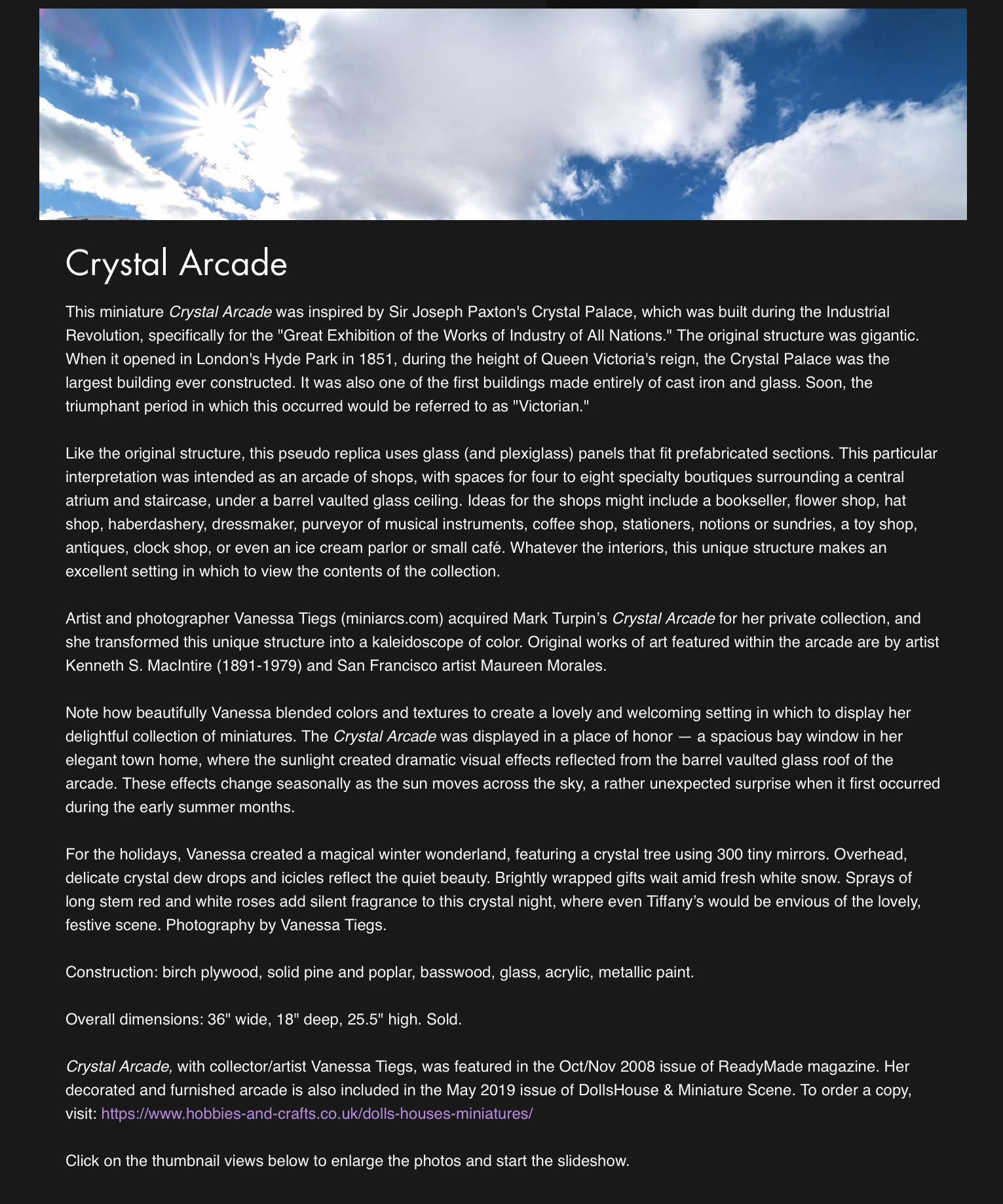 Crystal Arcade — 2005