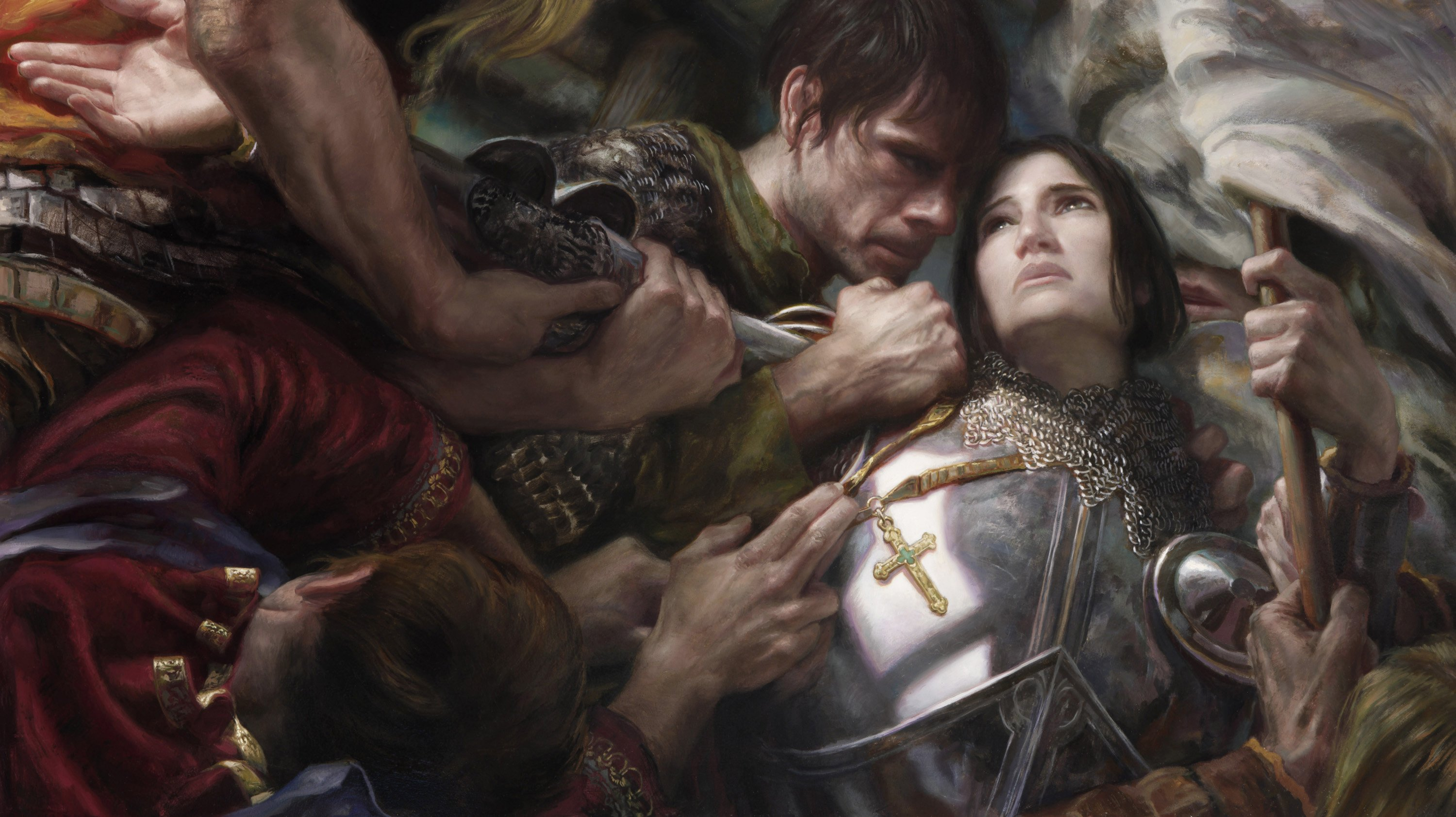 "Joan of Arc     24"" x 42"" Oil on Panel  2012 Painting created for educational process video"
